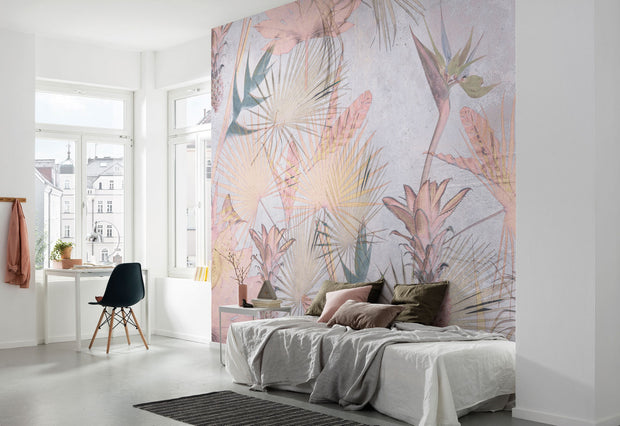 nature Wall Decor, Pastel Jungle Mural Wallpaper, beautiful natural decor, nature inspired designs, best home decor, Forest Homes
