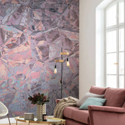 Pink Quartz Mural Wallpaper