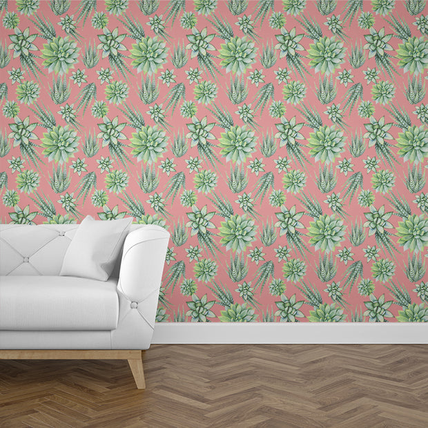 nature Wall Decor, Rose Cactus Mural Wallpaper (m²), beautiful natural decor, nature inspired designs, best home decor, Forest Homes
