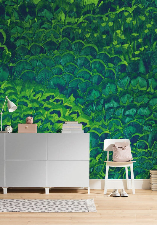 Soothing Feathers Mural Wallpaper