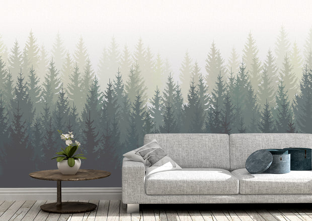 nature Wall Decor, Taigs Bos Tree Wall Mural (m²), beautiful natural decor, nature inspired designs, best home decor, Forest Homes