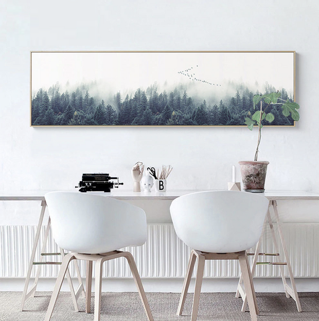 nature Wall Decor, Taigs Bos Panoramic Canvas, beautiful natural decor, nature inspired designs, best home decor, Forest Homes