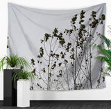 Nature decor, Wall Decor, Grey Forest Tapestry, Beautiful Natural Decor, Nature inspired Design, nature wallpaper, floral wallpaper, forest wallpaper, mural wallpaper, nature canvas, canvas prints, nature tapestries, glass terrariums, home decor, Forest Homes