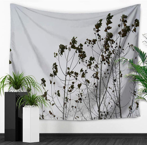 nature Wall Decor, Grey Forest Tapestry, beautiful natural decor, nature inspired designs, best home decor, Forest Homes
