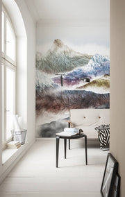 nature Wall Decor, Triumph Mountain Mural Wallpaper, beautiful natural decor, nature inspired designs, best home decor, Forest Homes