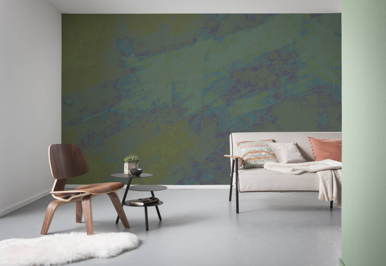 green wallpaper at Forest Homes