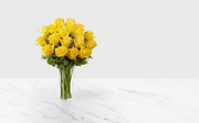 Preserved Yellow Roses Bouquet (12-18 un)