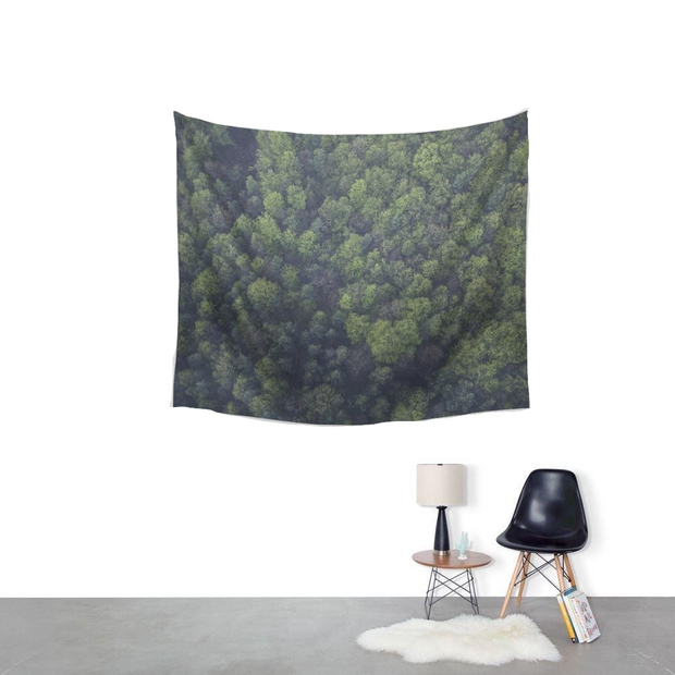 nature Wall Decor, Forest View Tapestry, beautiful natural decor, nature inspired designs, best home decor, Forest Homes