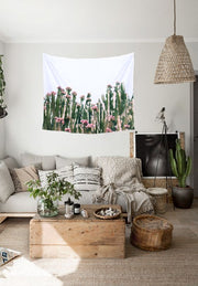nature Wall Decor, Green Succulent Tapestry, beautiful natural decor, nature inspired designs, best home decor, Forest Homes