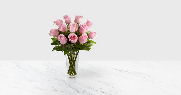 Preserved Pink Roses Bouquet (12-18 un)