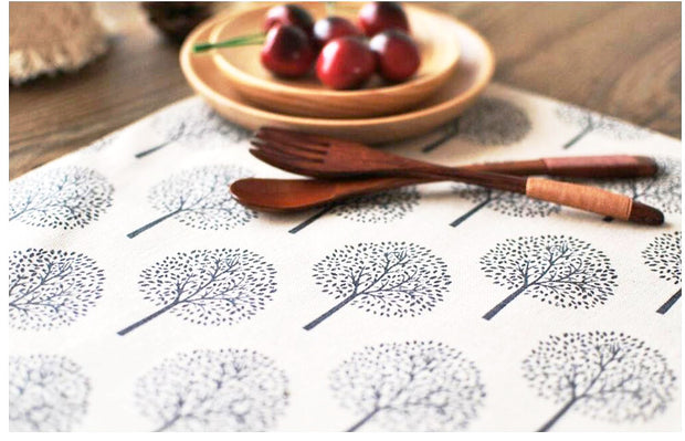 nature Table Decor, Round Pine Linen Placemats (Set of 4), beautiful natural decor, nature inspired designs, best home decor, Forest Homes