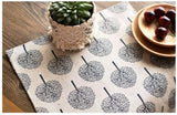 Nature decor, Table Decor, Round Pine Linen Placemats (Set of 4), Beautiful Natural Decor, Nature inspired Design, home decor, Forest Homes