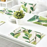 Set of 4 Flying Leafs Linen Table Placemats - Forest Homes