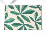 nature Table Decor, Leaves of Sciadopitys Linen Placemats, beautiful natural decor, nature inspired designs, best home decor, Forest Homes