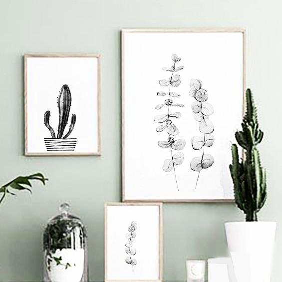 nature Wall Decor, Black Cactus Canvas Prints, beautiful natural decor, nature inspired designs, best home decor, Forest Homes