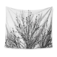 nature inspired Black&White Forest Wall Tapestry, Beautiful, unique Wall Decor, Forest Homes, Natural Decor, Nature inspired Design, home decor