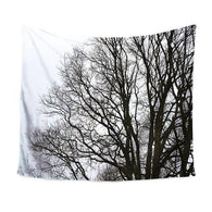Black&White Forest Wall Tapestry, Beautiful, unique Wall Decor, Forest Homes, Home Decor, Natural Decor, Nature inspired Design for Wellbeing