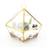 Golden Nature Terrarium Planter, Beautiful, unique Home Flora, Forest Homes, Home Natural Decor, Nature inspired Design
