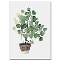 nature inspired Pilea Peperomioides Canvas Prints, Beautiful, unique Wall Decor, Forest Homes, Natural Decor, Nature inspired Design, home decor