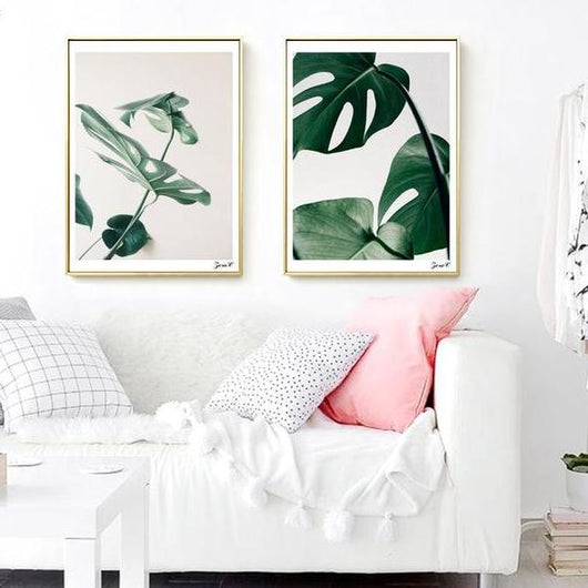nature Wall Decor, Monstera Canvas Prints (1 or Set of 2), beautiful natural decor, nature inspired designs, best home decor, Forest Homes
