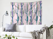 nature Wall Decor, Rosé Cactus Tapestry, beautiful natural decor, nature inspired designs, best home decor, Forest Homes