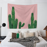 Nature decor, Wall Decor, Pink Cactus Tapestry, Beautiful Natural Decor, Nature inspired Design, nature wallpaper, floral wallpaper, forest wallpaper, mural wallpaper, nature canvas, canvas prints, nature tapestries, glass terrariums, home decor, Forest Homes
