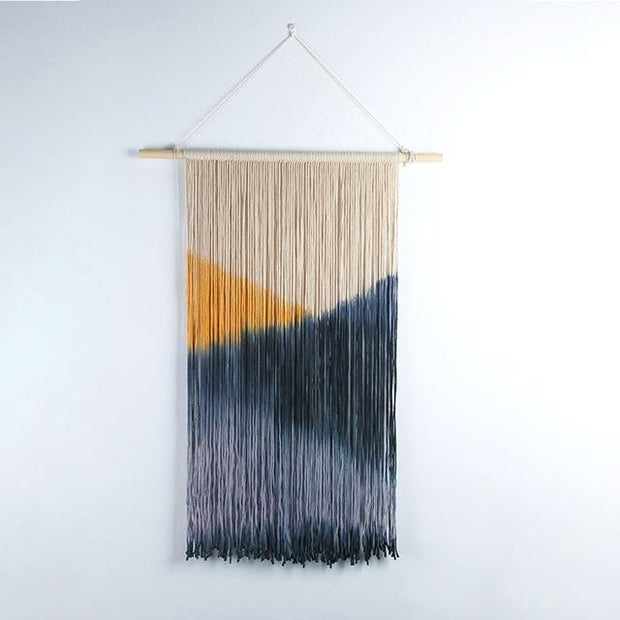 nature Wall Decor, Browallia Macramé Wall Hanging, beautiful natural decor, nature inspired designs, best home decor, Forest Homes