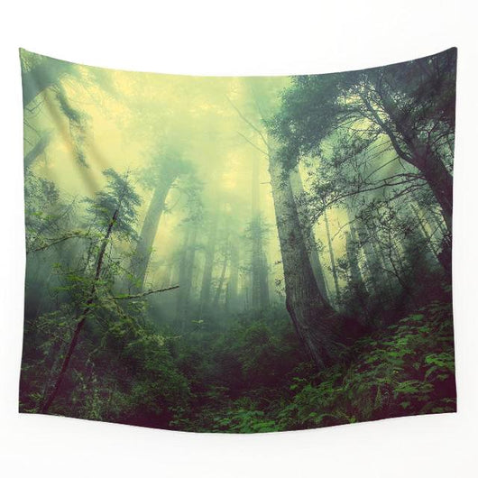 nature inspired Vista Wall Tapestry, Beautiful, unique Wall Decor, Forest Homes, Natural Decor, Nature inspired Design, home decor