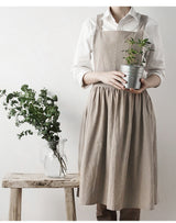 nature Cooking and Eating, Linsey Pure Linen Apron, beautiful natural decor, nature inspired designs, best home decor, Forest Homes
