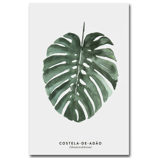Nature inspired decor, Wall Decor, Costela de Adao Canvas, Beautiful Natural Decor, Nature Designs, home decor, Forest Homes