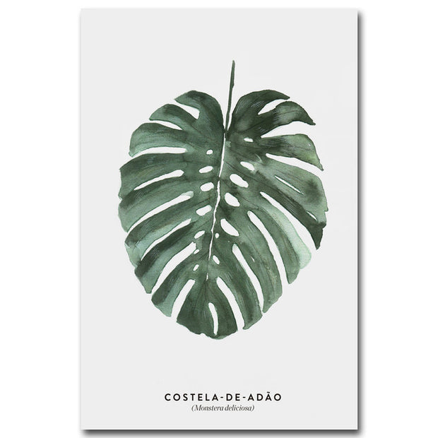 nature Wall Decor, Costela de Adao Canvas, beautiful natural decor, nature inspired designs, best home decor, Forest Homes