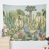 Wall Decor, Golden Cactus Tapestry, Beautiful Natural Decor, Nature inspired Design, home decor, Forest Homes
