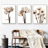 Water Flowers Canvas Prints