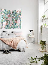 Nature decor, Wall Decor, Summer Cactus Tapestry, Beautiful Natural Decor, Nature inspired Design, nature wallpaper, floral wallpaper, forest wallpaper, mural wallpaper, nature canvas, canvas prints, nature tapestries, glass terrariums, home decor, Forest Homes