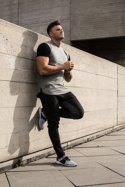 Elite Tee - Grey and Black