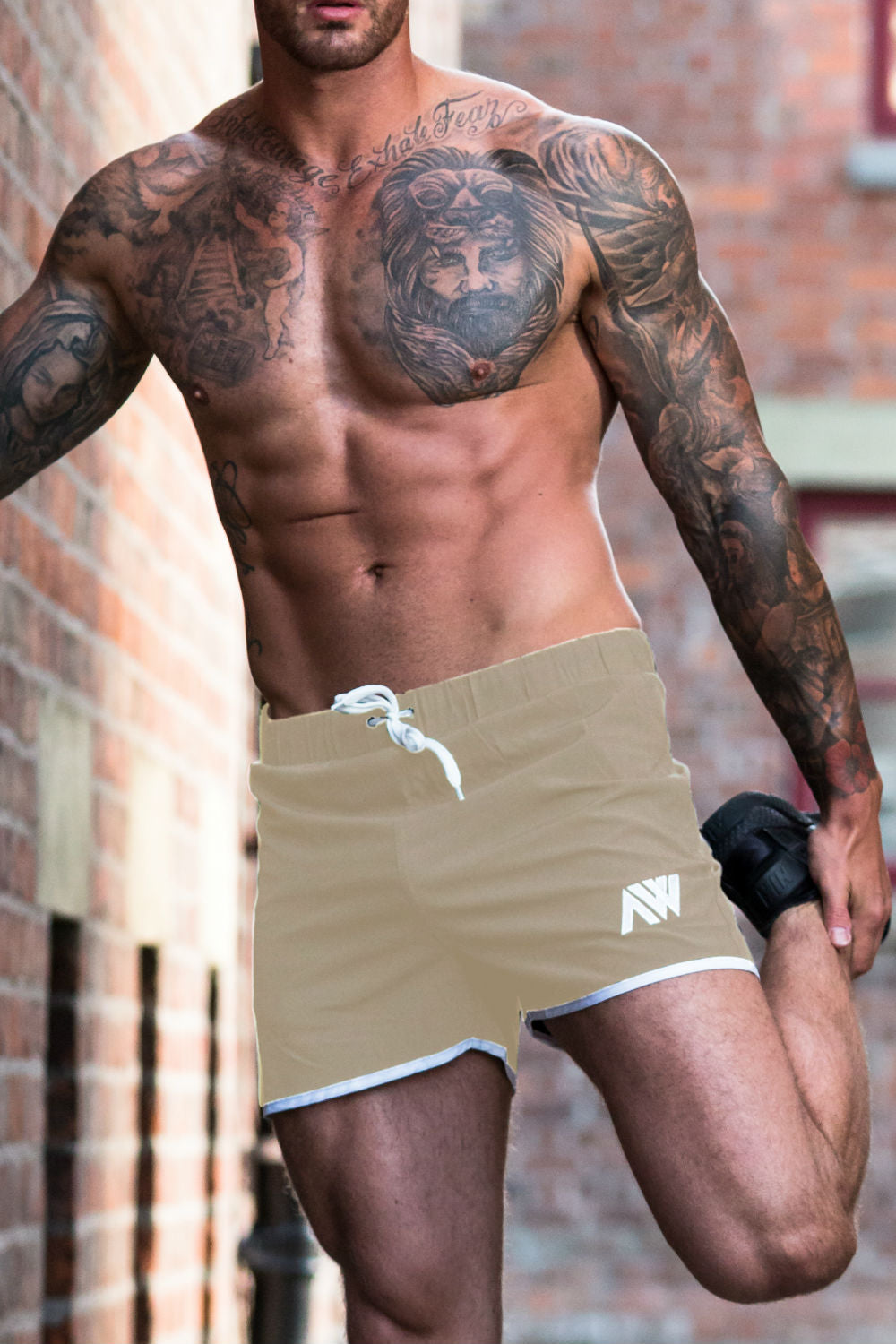 Pro-Fit Stretch Shorts - Beige