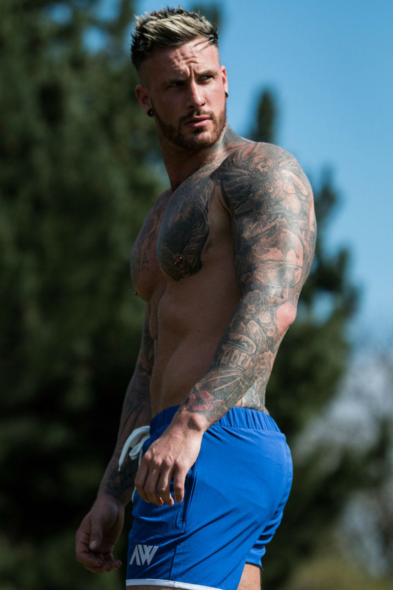 Pro-Fit Stretch Shorts - Blue