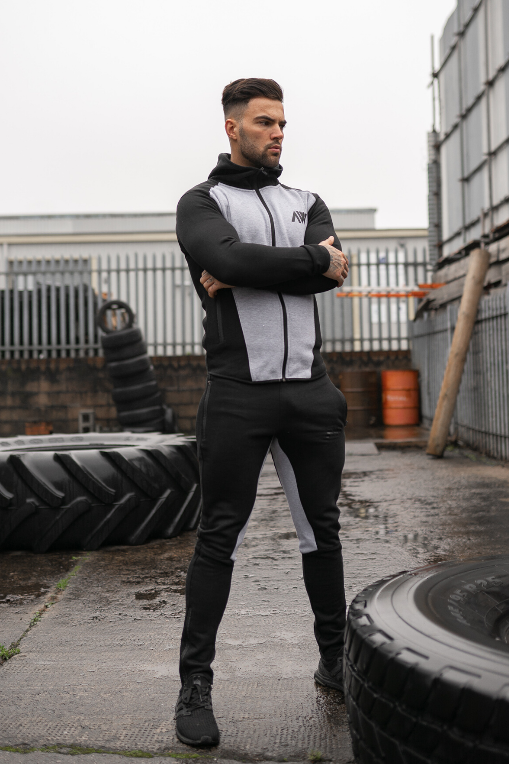 Tech 2.0 Tracksuit - Grey & Black Combo