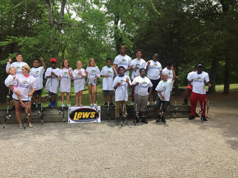 Team Nashville Bassmasters Kids Fishing Day Lew's Rods and Reels