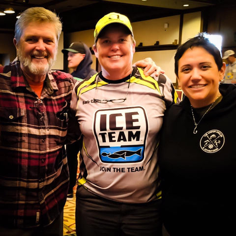 Al Lindner with Barb Carey and Angie Scott from the 2018 Fishing Careers Workshop