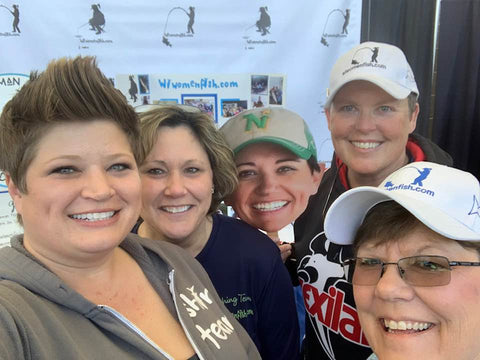 Having fun at the Wisconsin Women Fish/Woman Angler & Adventurer Booth!