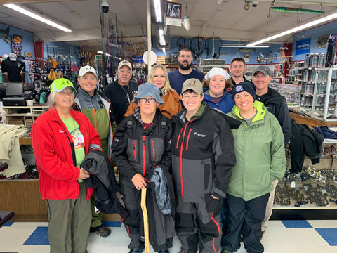 The brave crew at Red Top Sporting Goods in Buzzard's Bay, MA!