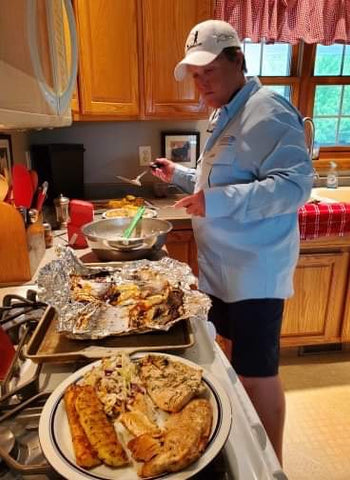 Captain Barb...or should we say Gourmet Chef Barb?