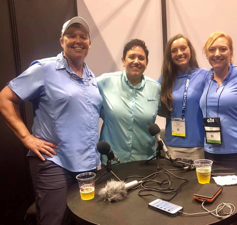 Backstage at iCast with Lee Rose and Dena Vick!