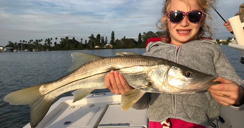 Joe Simonds' Daughter with a Nice Snook!