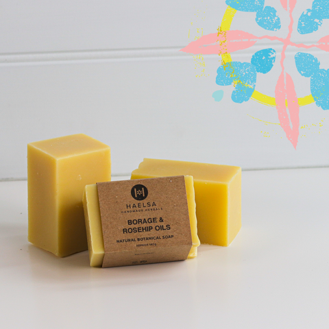Borage & rosehip oils soap in group
