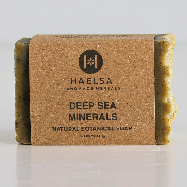 Deep sea minerals soap in wrapper