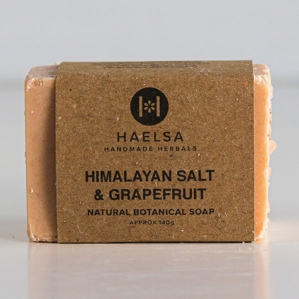 Himalayan salt & grapefruit soap in wrapper