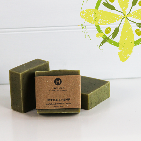 Nettle & hemp soap in group