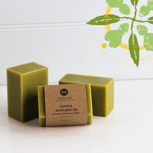Olive & avocado oil soap in group